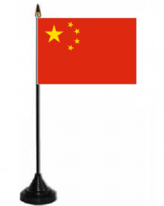 China Desk / Table Flag with plastic stand and base.